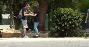 Κοινωνικό πείραμα: Κακοποιούσε την κοπέλα του στο κέντρο της Αθήνας -Πώς αντέδρασαν οι περαστικοί (VIDEO)